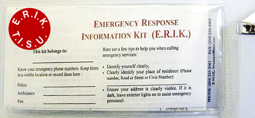 picture of an Emergency Response Information Kit
